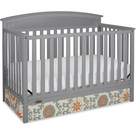 Graco Benton 5 In 1 Convertible Fixed Side Crib Pebble