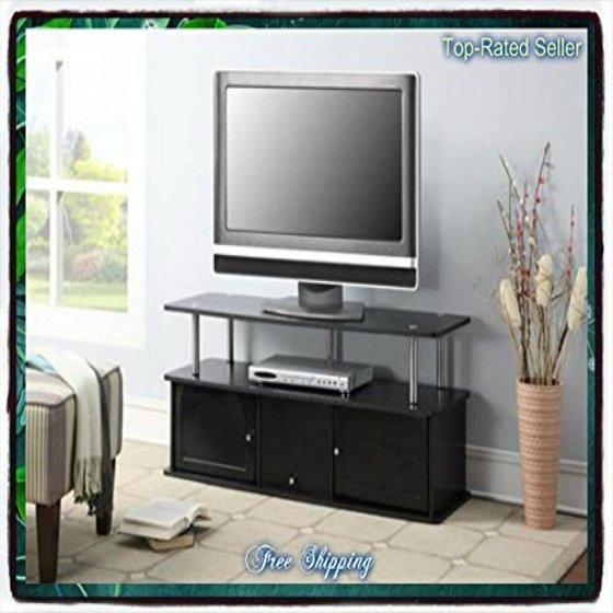 Black tv stand media entertainment center 42 50 60 inch flat black tv stand media entertainment center 42 50 60 inch flat screen television console storage furniture sciox Images