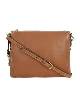 fc4b227169b7 Product Image Fossil Emma EW Ladies Medium Brown Leather Crossbody Handbag  ZB6842
