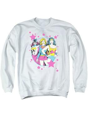 DC Comics Justice League Super Women You Go Girls Adult Crewneck Sweatshirt