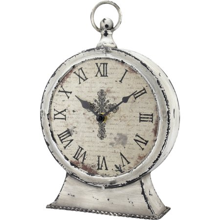 Stonebriar Collection Faith Round Tabletop Clock