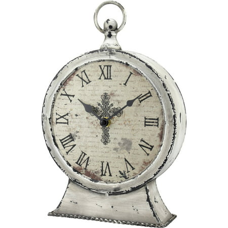 Stonebriar Collection Faith Round Tabletop Clock (Insight Tabletop Clock)