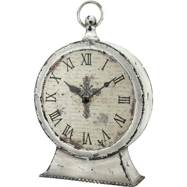 Stonebriar Collection Faith Round Tabletop Clock Walmart Com Walmart Com