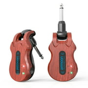 ammoon 5.8G Guitar Wireless System Red Transmitter + Receiver with USB Charging Cable for Electric Guitar Bass