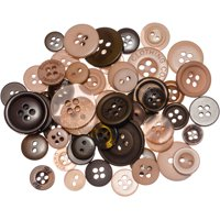 Buttons Galore Button Mason Jars-Warm Cocoa