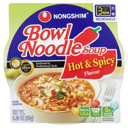Nongshim Bowl Noodle Hot & Spicy, 3.03 Oz, 12 Ct