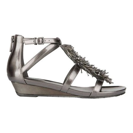 Women's Kenneth Cole Reaction Great Fringe T Strap Sandal - Great Gatsby Clothing