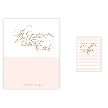 Rosanne Beck Collections Bridal Journal and Wedding Planner Combo Set (to The Future Mrs. Wedding Journal and Best Day Ever Luxe Wedding