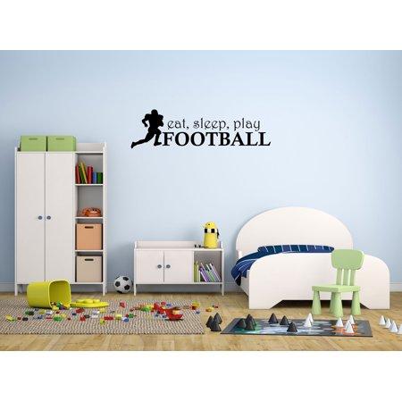 Wall Decal Quote Eat Sleep Play Football Kids Room Home Decor Sports Hobbies GD87](Sports Room Decor)