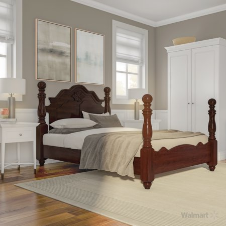 Furniture of America Chante Traditional Queen Bed, Glossy Dark Pine ()