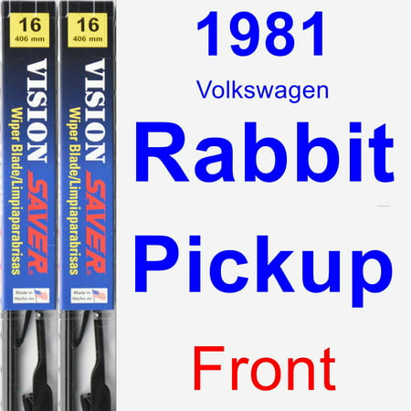 1981 Volkswagen Rabbit Convertible (1981 Volkswagen Rabbit Pickup Wiper Blade Set/Kit (Front) (2 Blades) - Vision Saver )