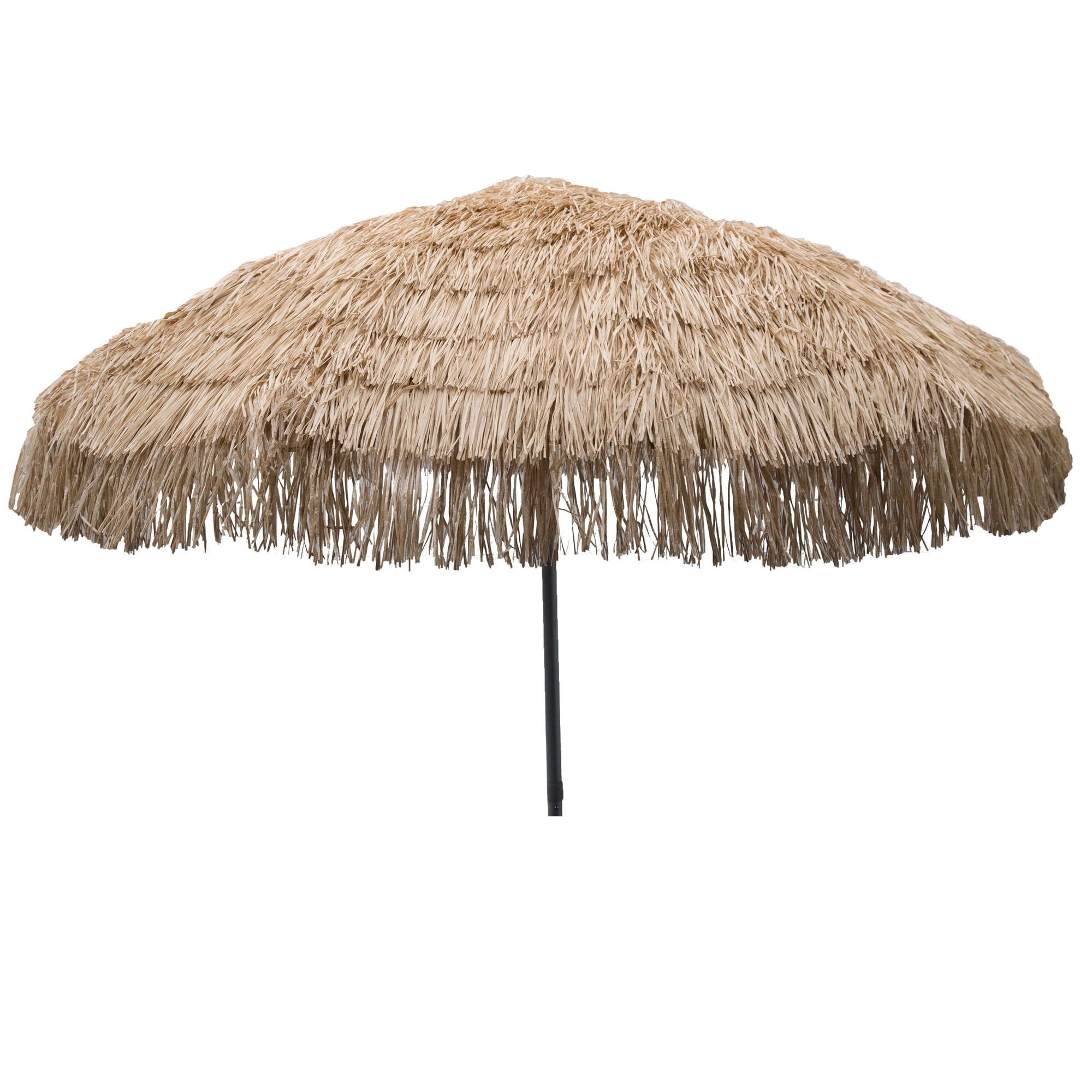 "DestinationGear Palapa Tiki Umbrella 7'6"" Whiskey Brown Patio Pole by Outdoor Umbrellas"