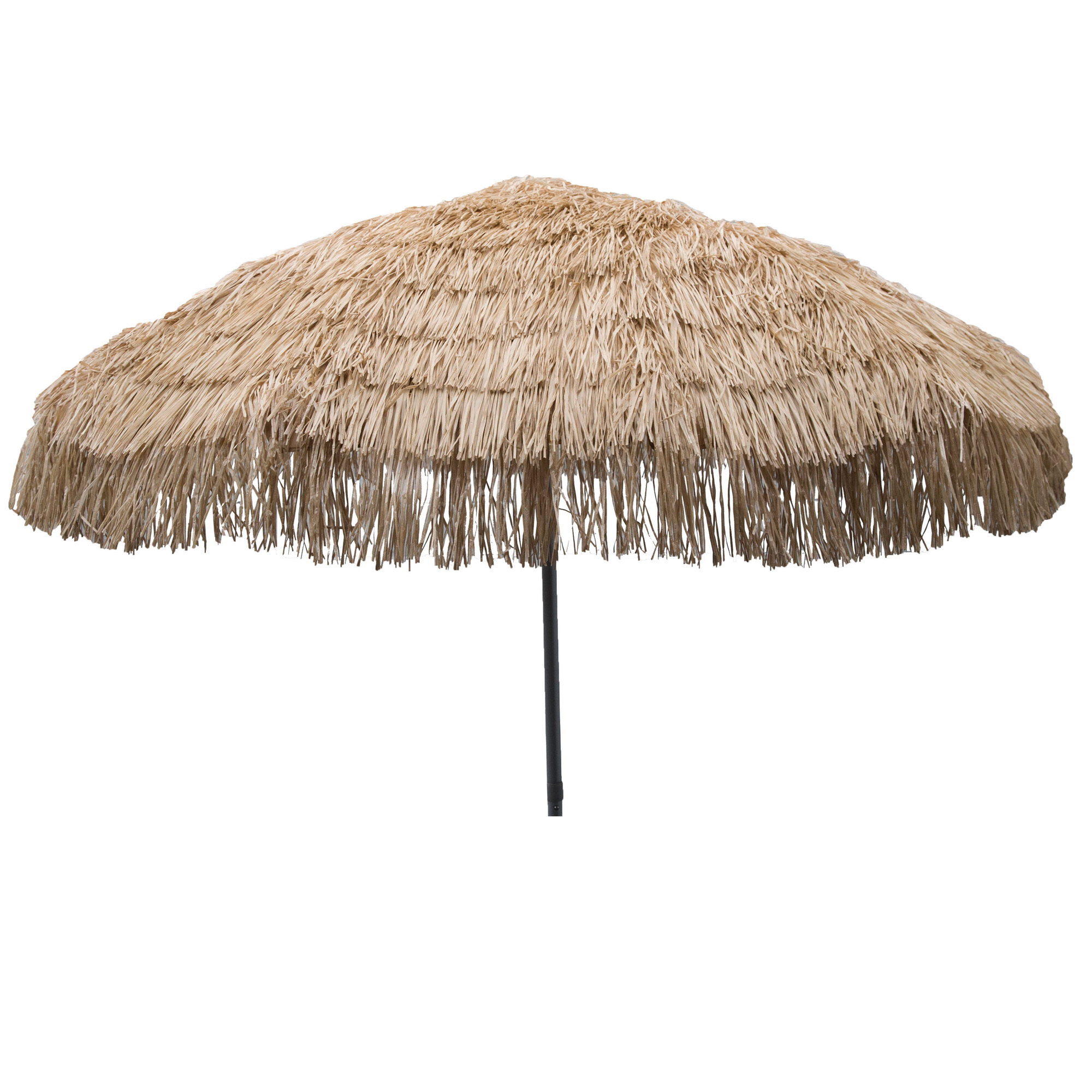 "DestinationGear Palapa Tiki Umbrella 7'6"" Whiskey Brown Patio Pole"