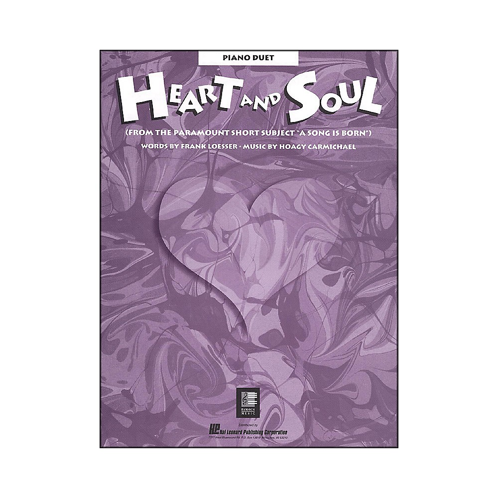 Hal Leonard Heart And Soul Piano Duet From A Song Is Born