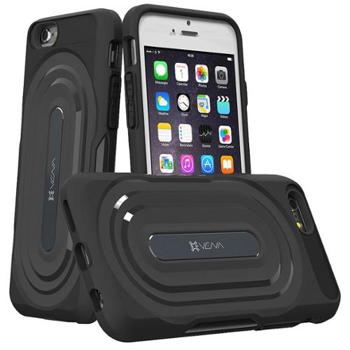 Apple iPhone 6s / iPhone 6 Rugged Case - VENA [vArmor] Protection [Slim | Heavy Duty] Hybrid Case Cover - Black / Black