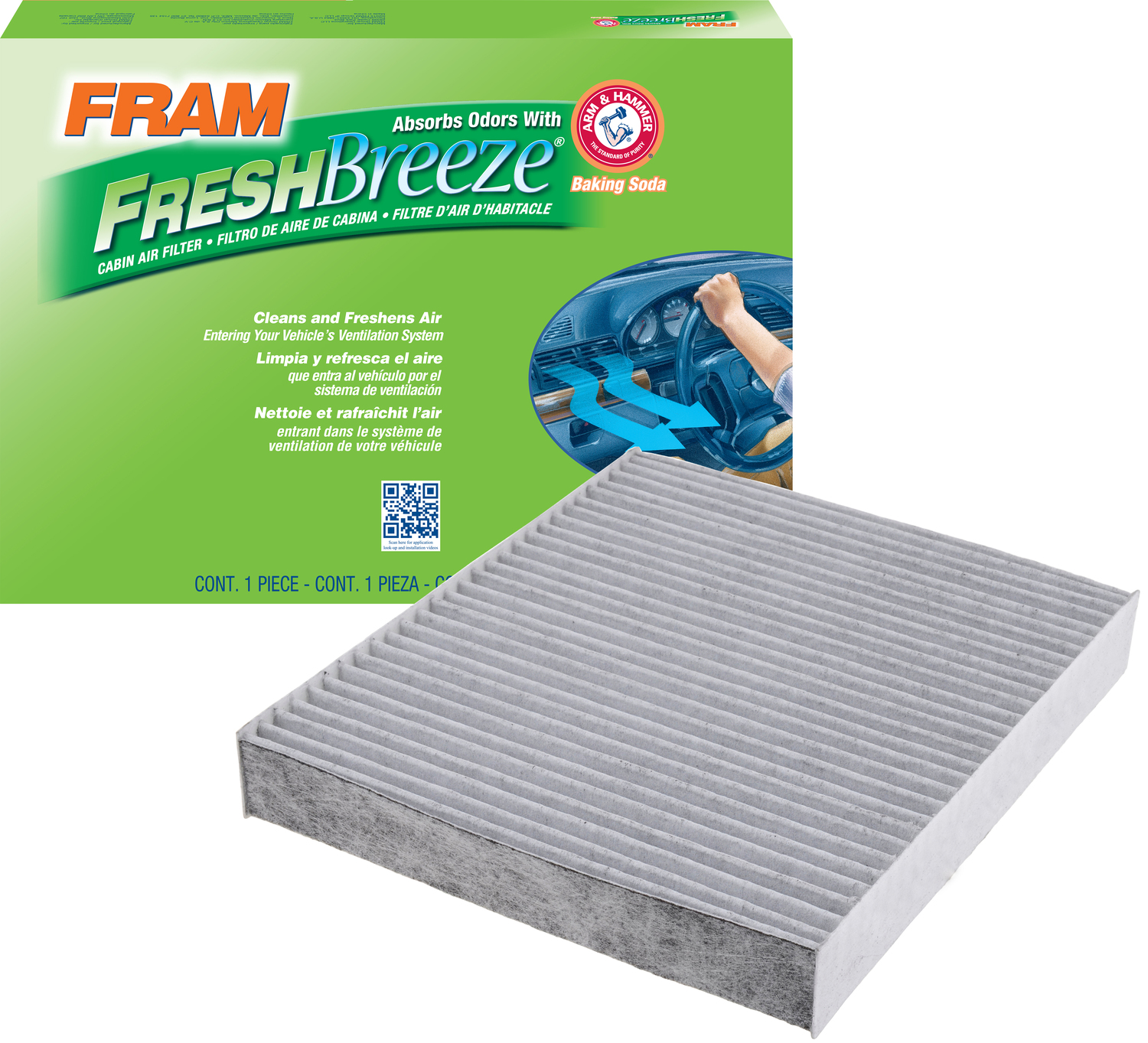 FRAM Fresh Breeze Cabin Air Filter, CF10743