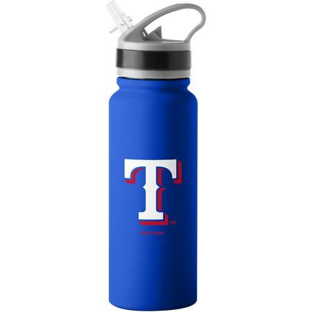 MLB Texas Rangers 25 oz. Stainless Steel Water (Texas Longhorns Bottle)