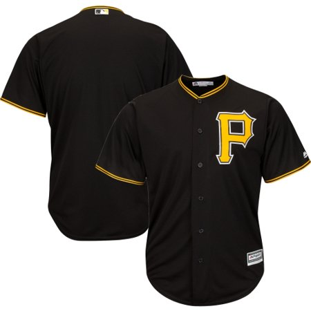 Pirate Skull Baseball Jersey - Pittsburgh Pirates Majestic Big & Tall Cool Base Team Jersey - Black