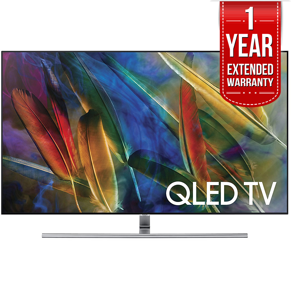 "Samsung Flat 55"" 4K Ultra HD Smart QLED TV (QN55Q7FAM) with 1 Year Extended Warranty"
