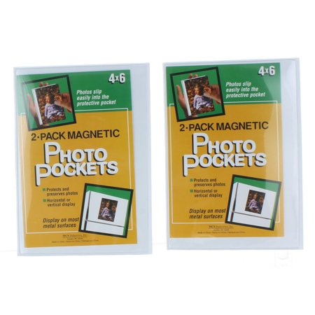 (Lot of 4 Magnetic Photo Pockets 4