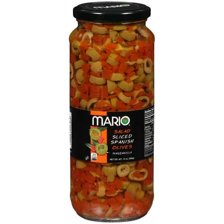 (3 Pack) Mario® Salad Sliced Spanish Manzanilla Olives 13 oz. Jar