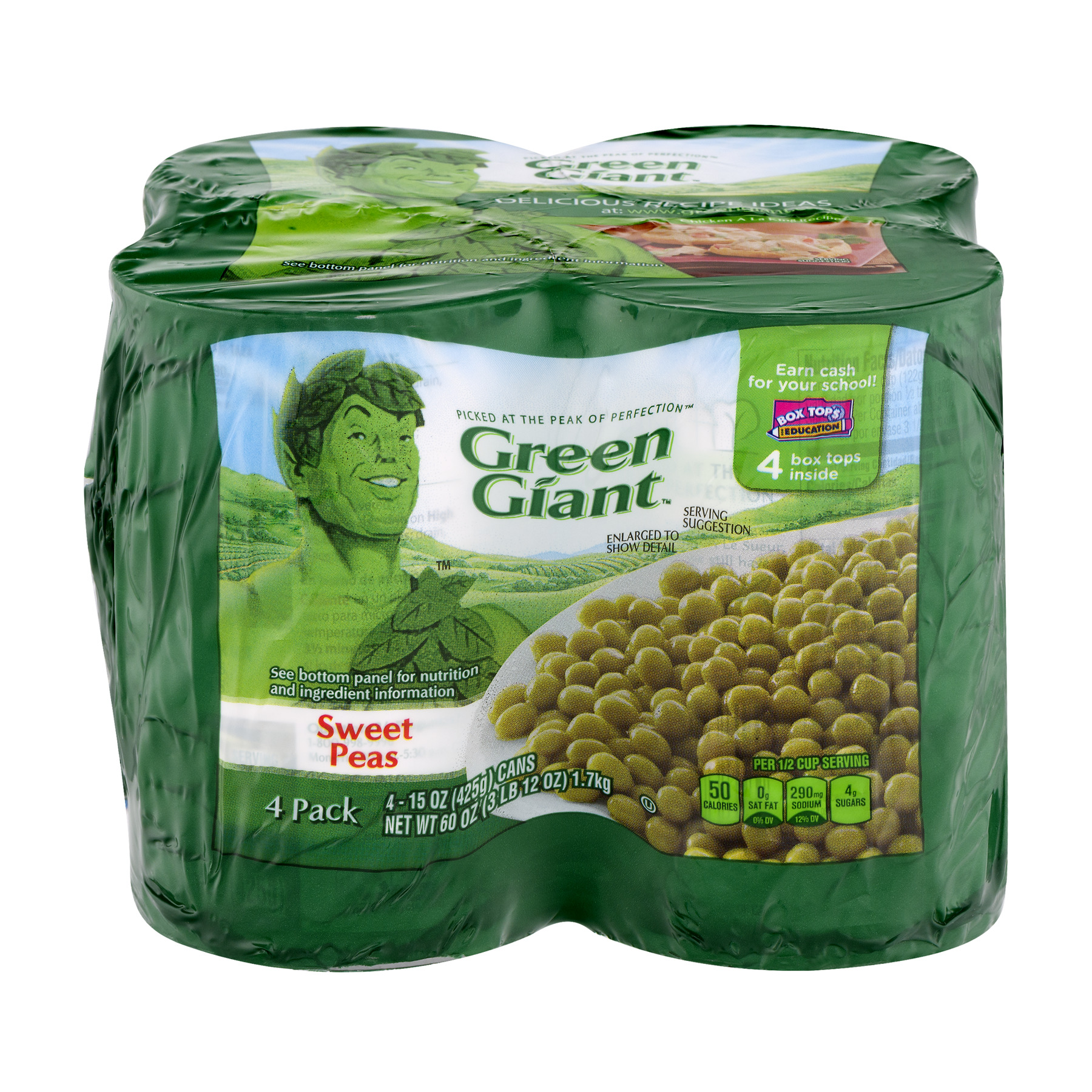 Green Giant Sweet Peas - 4 PK, 15.0 OZ