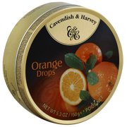 Cavendish & Harvey Orange Drop Candies, 5.3 oz, (Pack of 12)
