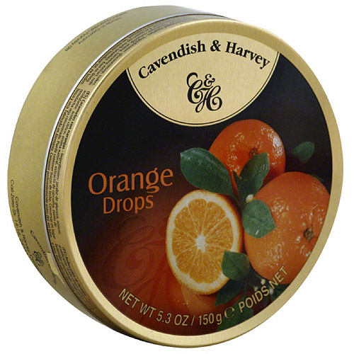 Cavendish & Harvey Orange Drop Candies, 5.3 oz, (Pack of 12)