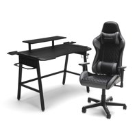 RESPAWN Gaming Chair (RSP-100) and Gaming Desk (RSP-1010) Bundle, eSports Gaming Battlestation, in Gray