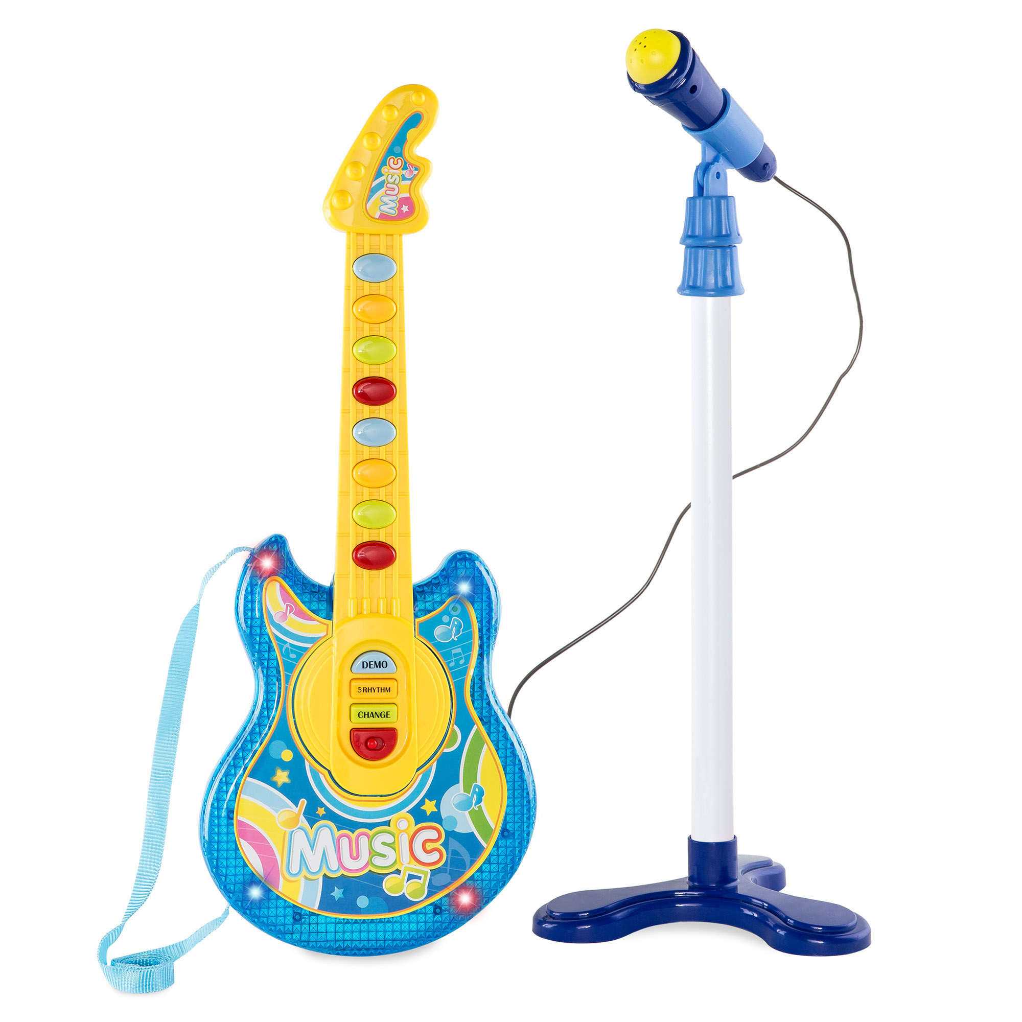 Mini Microphone Guitar Toy Baby Musical Instrument Funny Music Educational Toy