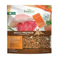Freshpet Healthy & Natural Dog Food, Roasted Meals Multiprotein Recipe, 3lb