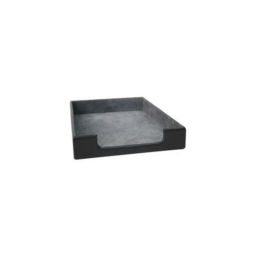 Royce Leather 784-6 Desk Letter Tray Black