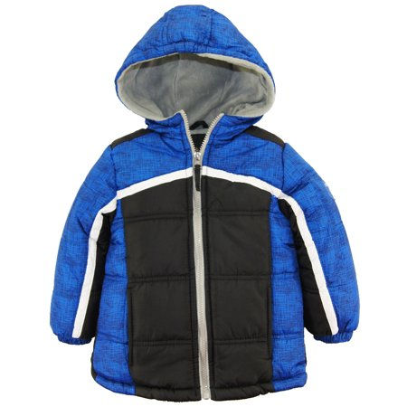 iXtreme Toddler Boys Colorblock Expedition Hooded Winter Puffer Jacket Coat size 2T