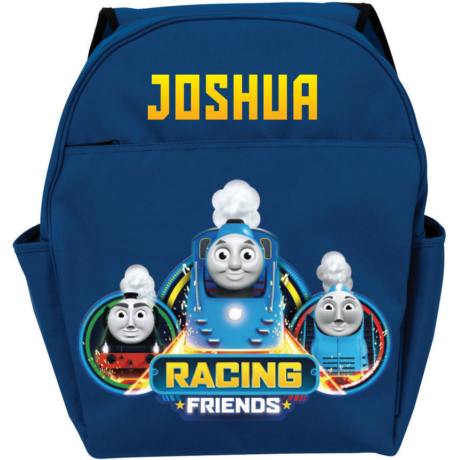 Personalized Thomas and Friends Racing Friends Blue Toddler Backpack