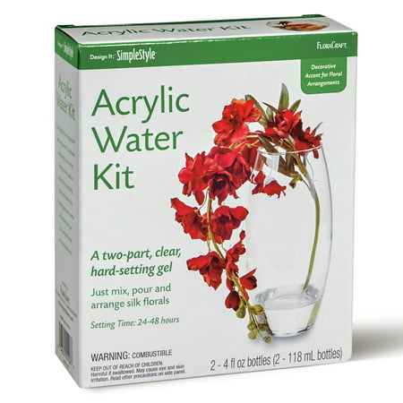 FloraCraft Acrylic Water Two-Part Simulated Water Kit 8 Ounce