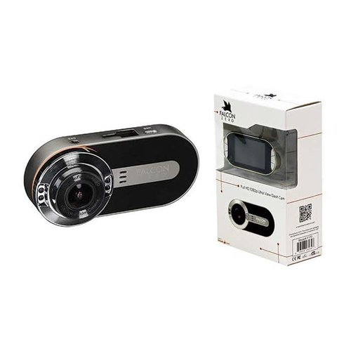 FalconZero F170HD+ Dash Cam 1080P 170° Viewing Angle 8 GB Micro SD Card Included