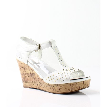 Naturalizer NEW White Women's Shoes Size 10.5M Riley Wedge Sandal