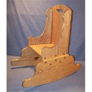 THE PUZZLE-MAN TOYS W-2435 Children's Wooden Play Furniture - Rocking Chair - 9-1/2 in. Seat Height