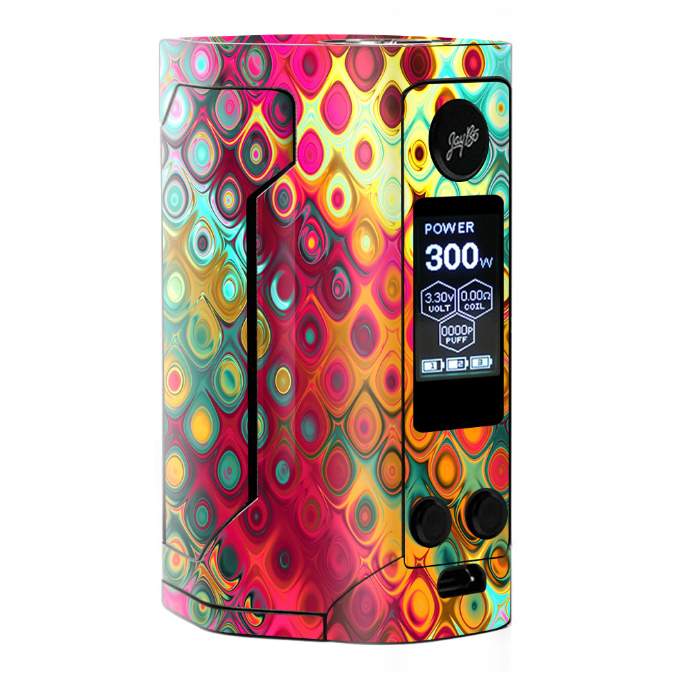 Skins Decals For Wismec Reuleaux Rx Gen 3 Vape / Colorful Pattern Stained Glass