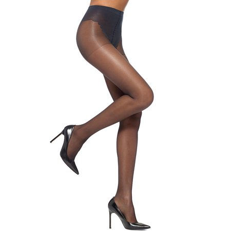 HUE Womens SO SEXY French Lace Sheers Control Top Pantyhose Style-5970N Sheer Leg Control Top Pantyhose