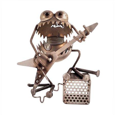 Sugarpost - Metal Sculpture - Gnome Be Gones Rocker w/ Amp - Gnome Glider