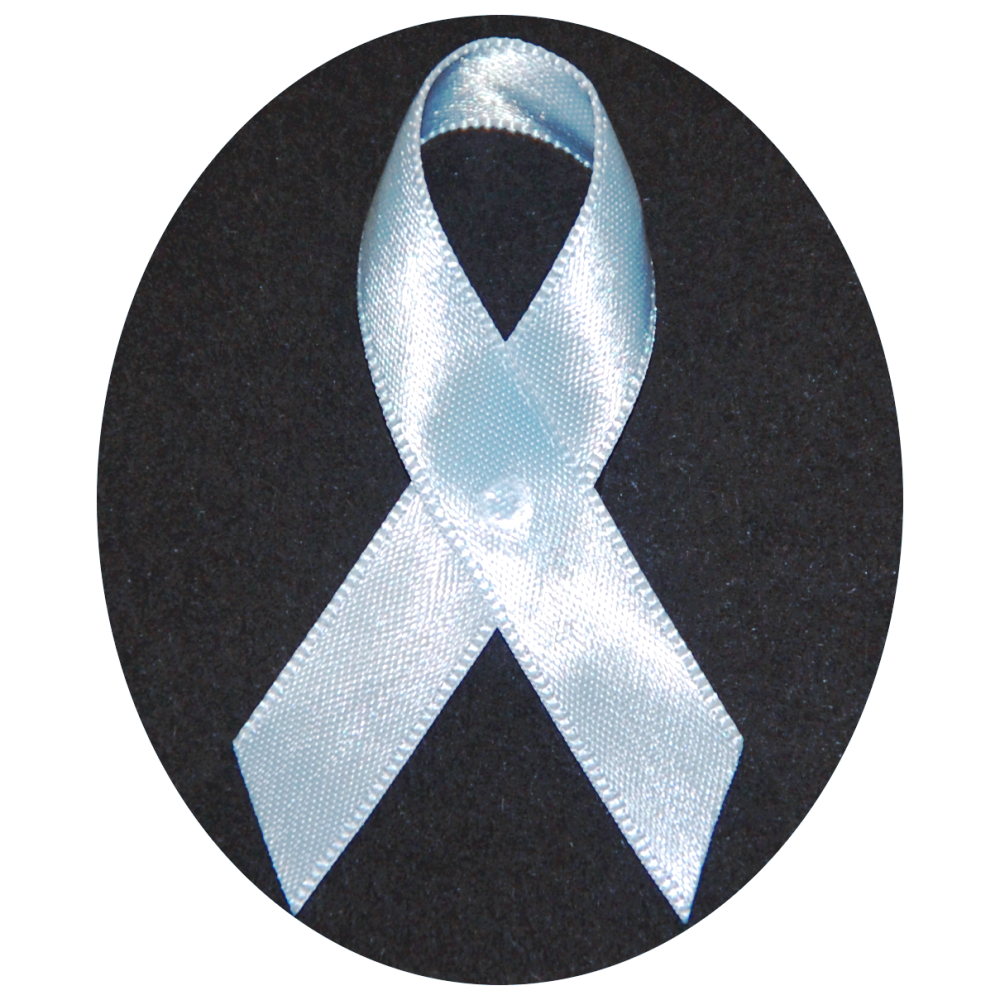 USA Made Light Blue Satin Awareness Ribbons - Bag of 125 Lapel Ribbons w/ Safety Pins (Many Colors Available) (Pin Already Attached)