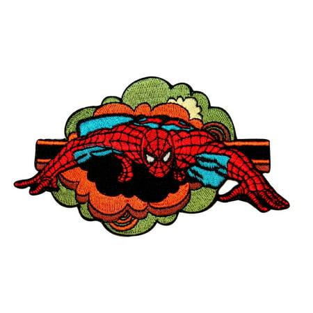 Amazing Spider Man Appliques - Spider-Man Retro Comics Patch Marvel Superhero Avengers Fan Iron-On Applique