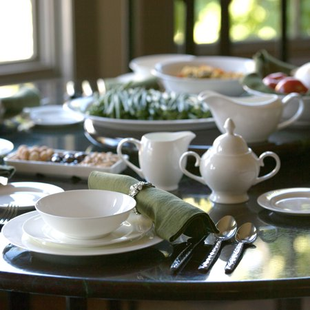 Florentine Bone China - 10 Strawberry Street Round Rim Fine Bone China 32-Piece Dinnerware Set