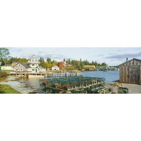 Stonington Harbor (Lobster Village in Autumn Southwest Harbor Stonington Maine Poster Print )