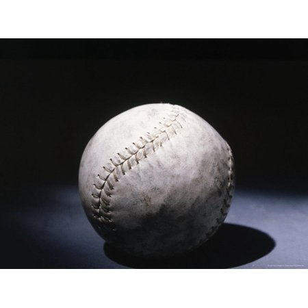 Light Shining on a Baseball Print Wall Art By Robin Allen
