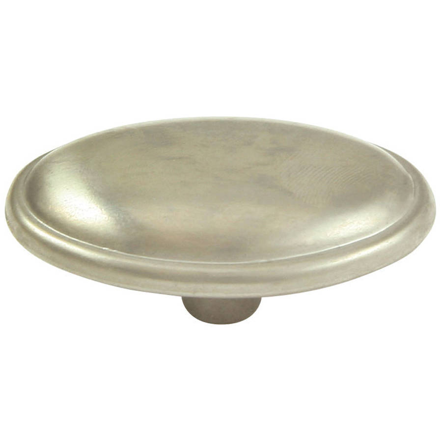 "Ultra Hardware 41841 1-1/2"" Round Satin Nickel Designer's Edge Cabinet Knob"