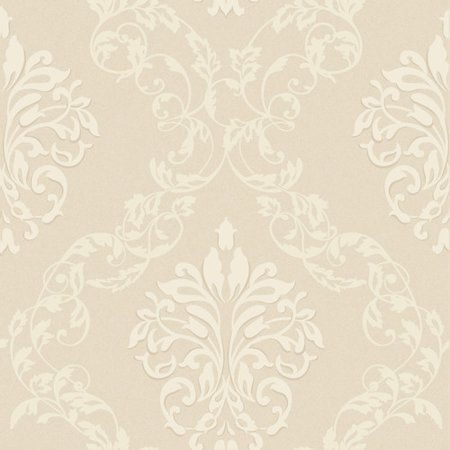 York Wallcoverings Royal Cottage Leafy 33' x 20.5'' Damask Distressed Wallpaper