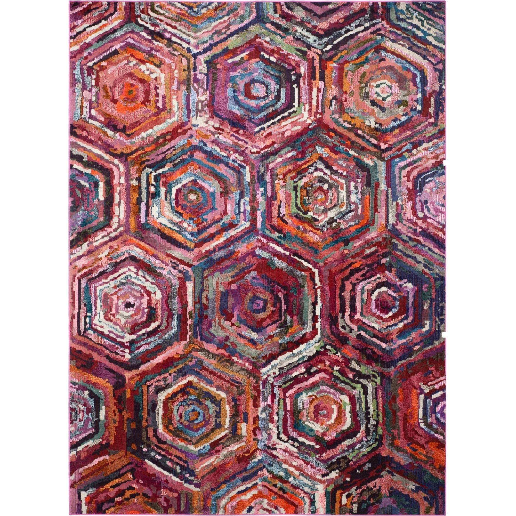 Safavieh Monaco Kelsey Power Loomed Area Rug, Pink/Multi-Colored