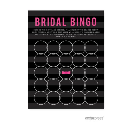 Bridal Shower Bingo  Modern Black and White Stripes Wedding Bridal Shower Game Cards, 20-Pack](Wedding Bingo)
